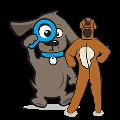 Kostuum van hond