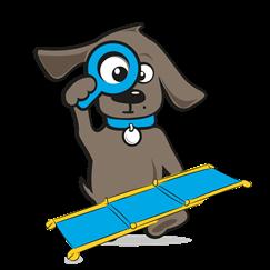 Loopplank hond