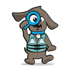 Watertas hond
