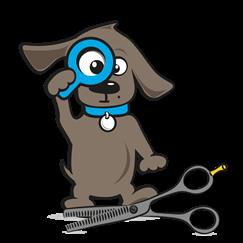 Effileerschaar hond