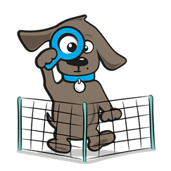 Verplaatsbare afrastering hond