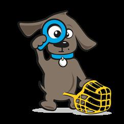 Muilband hond