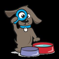 Drinkfontein hond