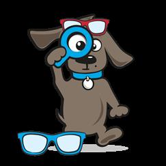 Zonnebril hond