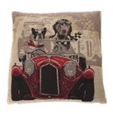 In The Mood Napoleon Hond in auto - Sierkussen - Rood -45x45 cm