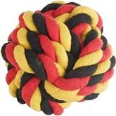 Belgisch voetbal katoenen speelbal voor honden 15 cm