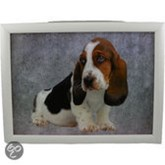 Mars & More laptray grijs hond basset pup