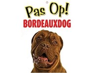 Otter House Waakbordje Bordeaux dog 21x15 cm