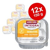 Animonda Integra Protect Sensitive Schaaltje 12 x 150 g Hondenvoer - Kip + pastinaak