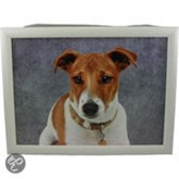 Mars & More laptray grijs hond jack russell